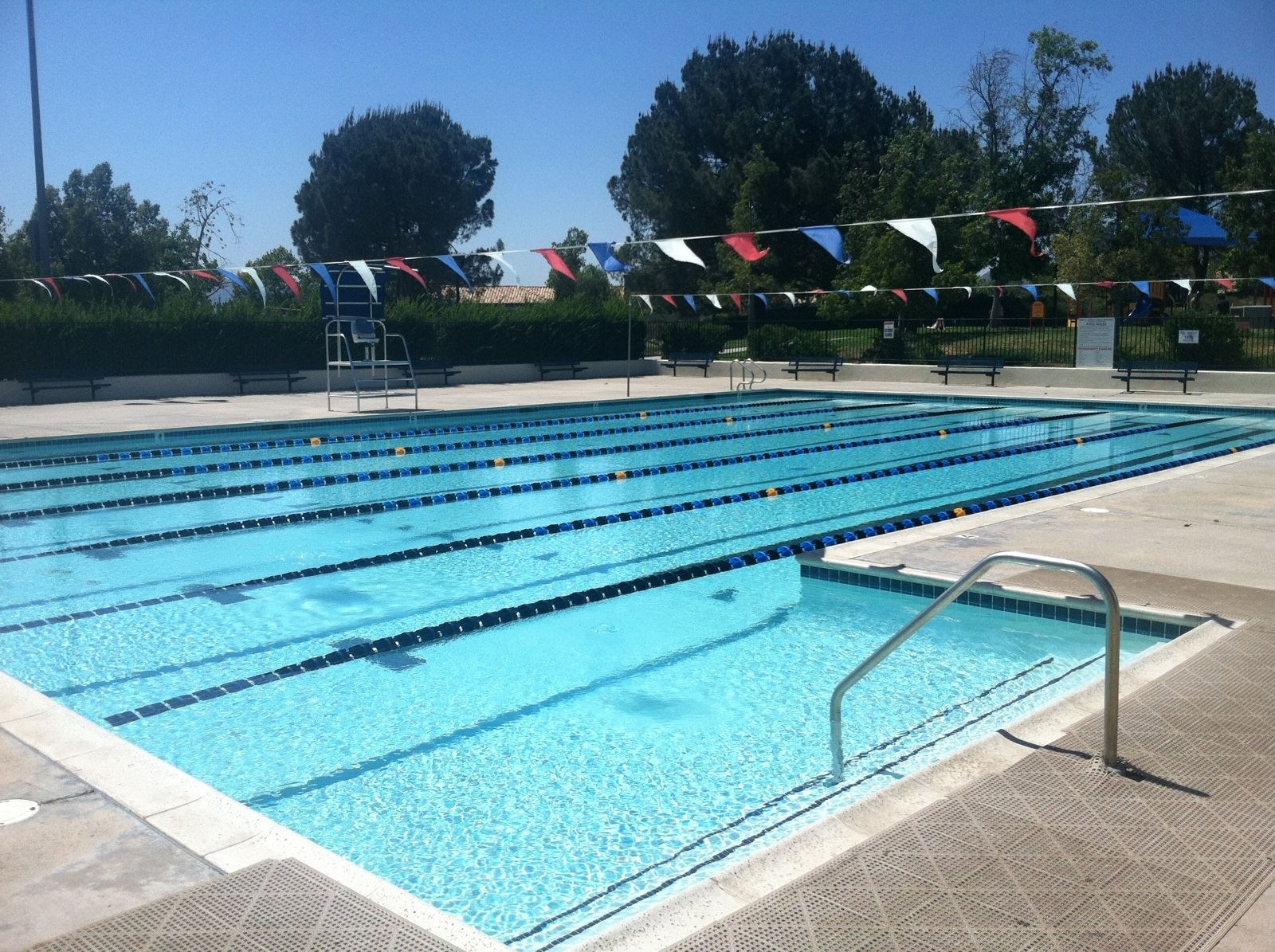 View of the California Oaks Sports Park Pool